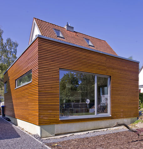 anbau haus holz fassade googlesuche fassade fenster. Black Bedroom Furniture Sets. Home Design Ideas